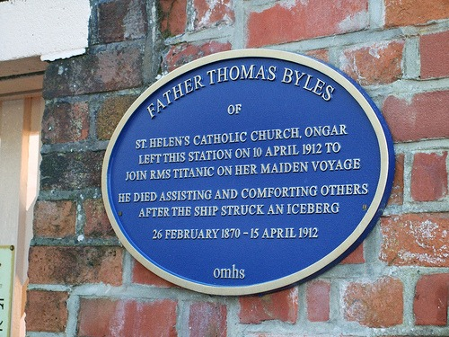 Plaque at Ongar Station