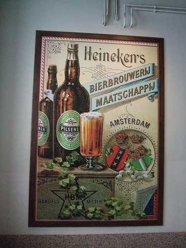 Vintage Heineken poster