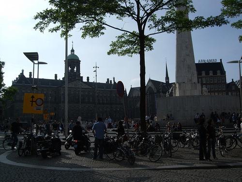 Main square in Amsterdam