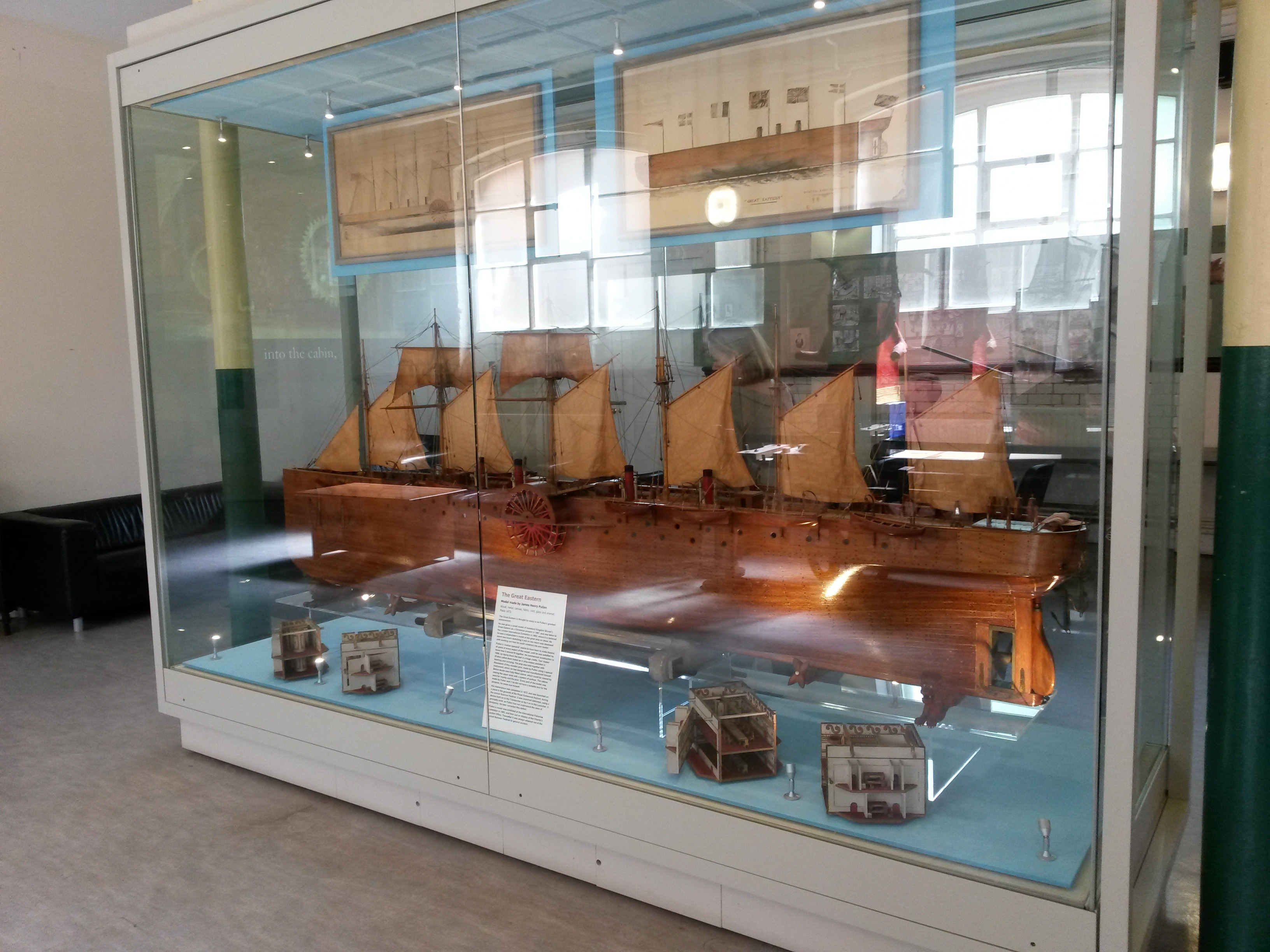 Model of the ship The Great Eastern