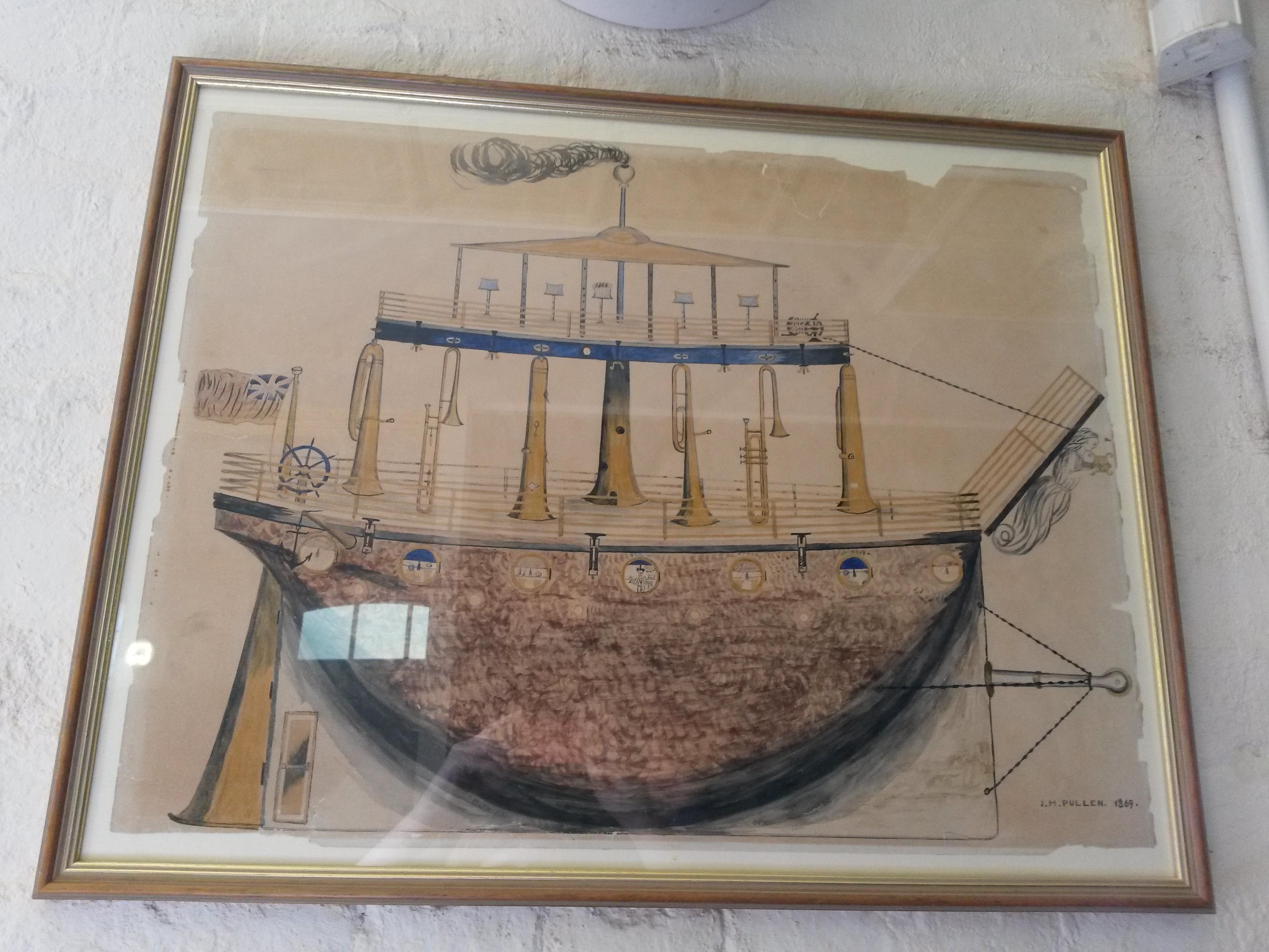 Pullen's design for a ship