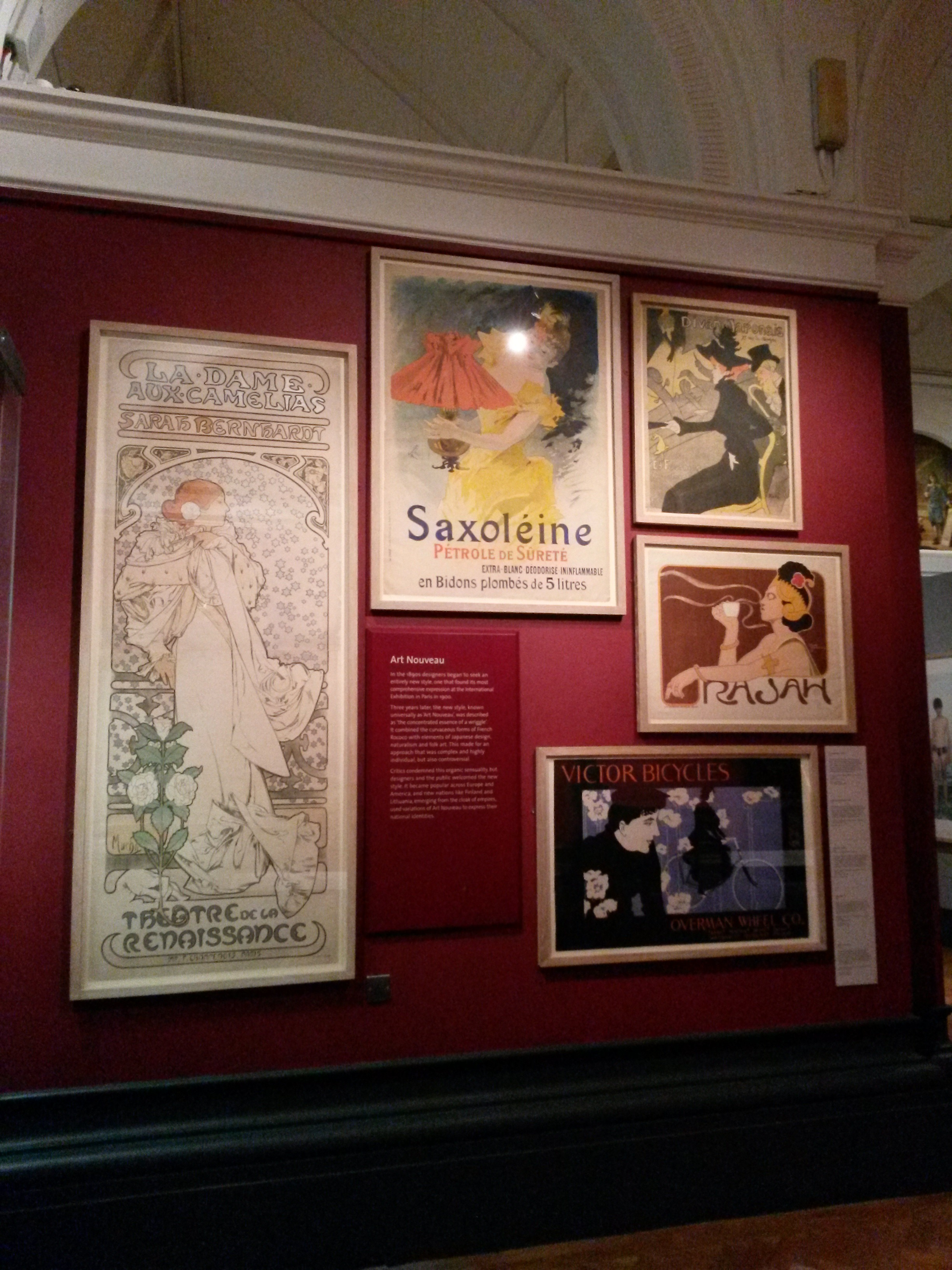 Art Nouveau posters in the V&A