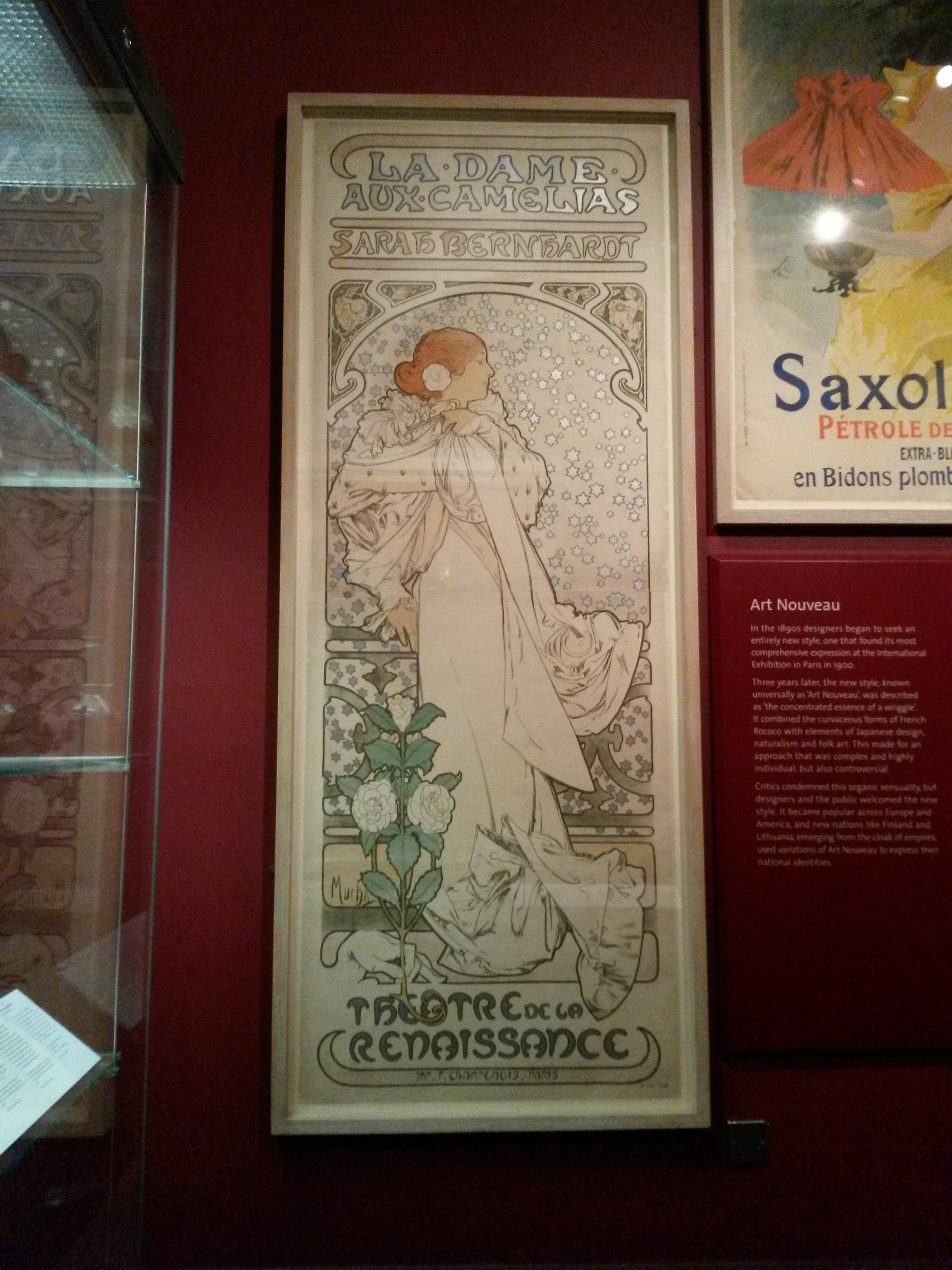 A close up of La Dame aux Camélias at the V&A