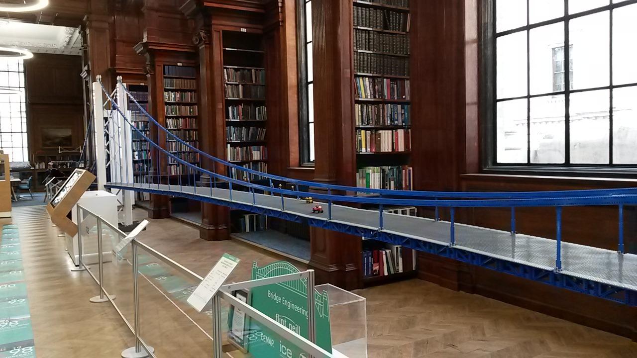 Lego suspension bridge