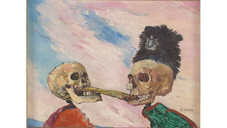 James Ensor, 'Skeletons Fighting Over a Pickled Herring'