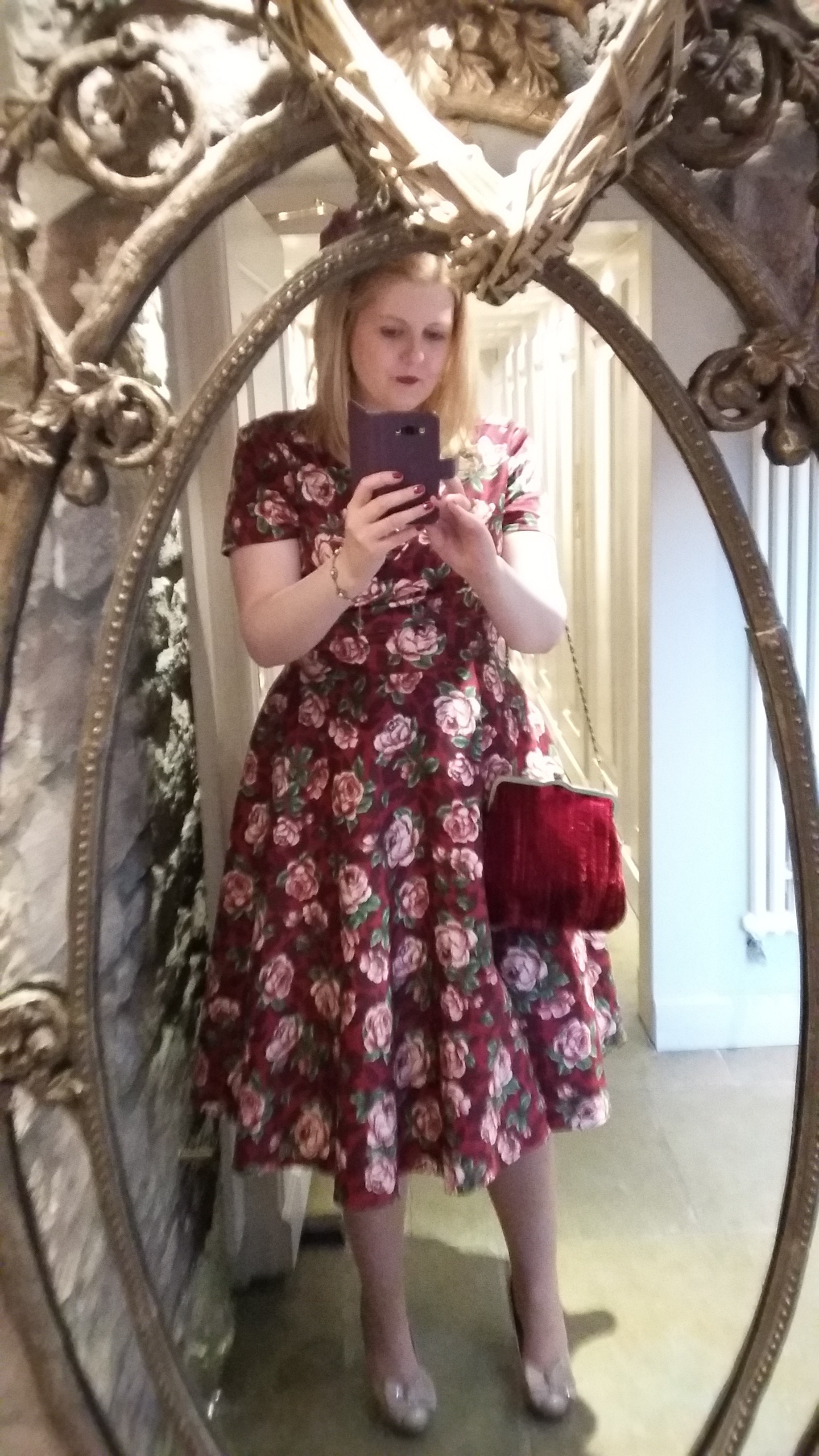 Me wearing my new Collectif dress