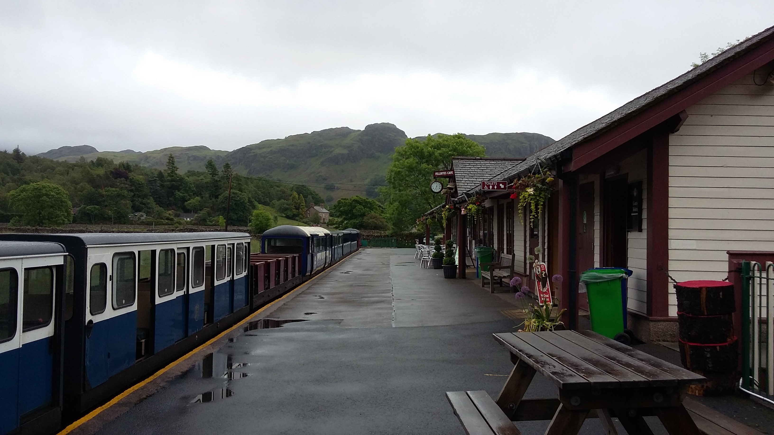On the platform at Eskdale
