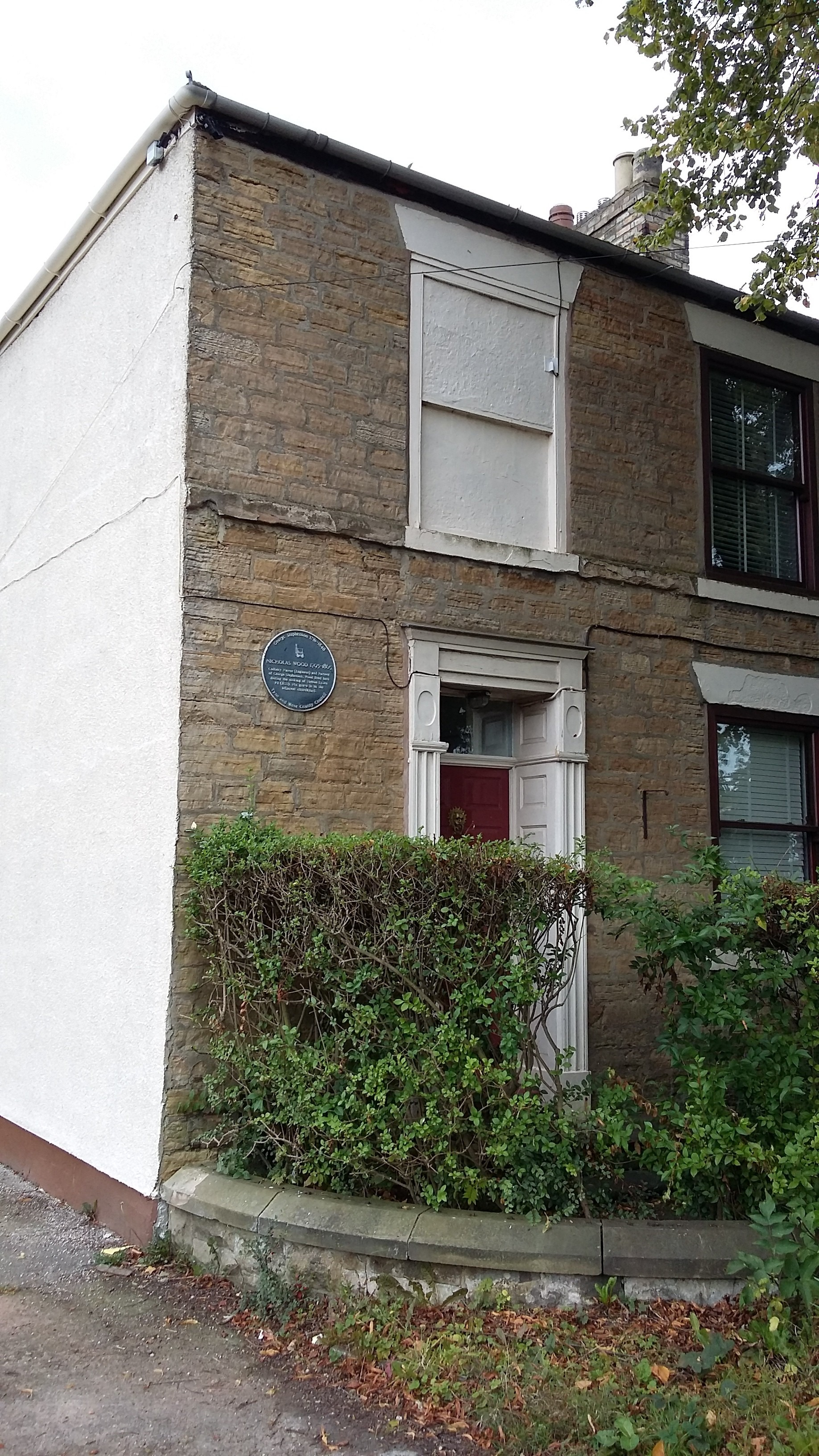 Nicholas Wood's blue plaque