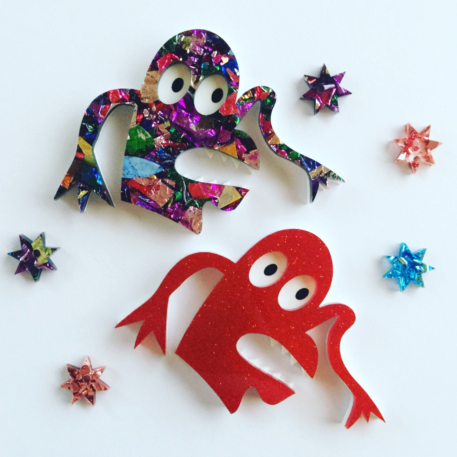 Finger Monster Brooch