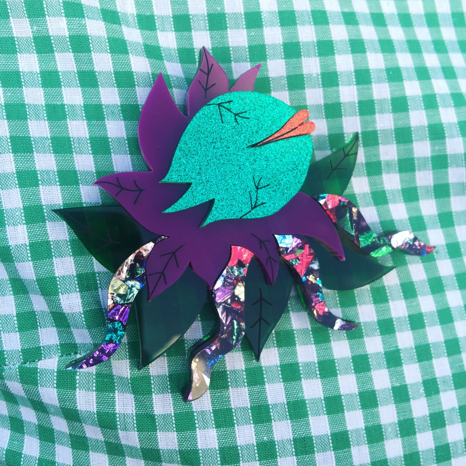 Mean Green Mother Brooch