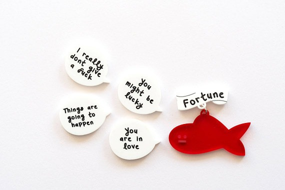 Fortune fish brooch set