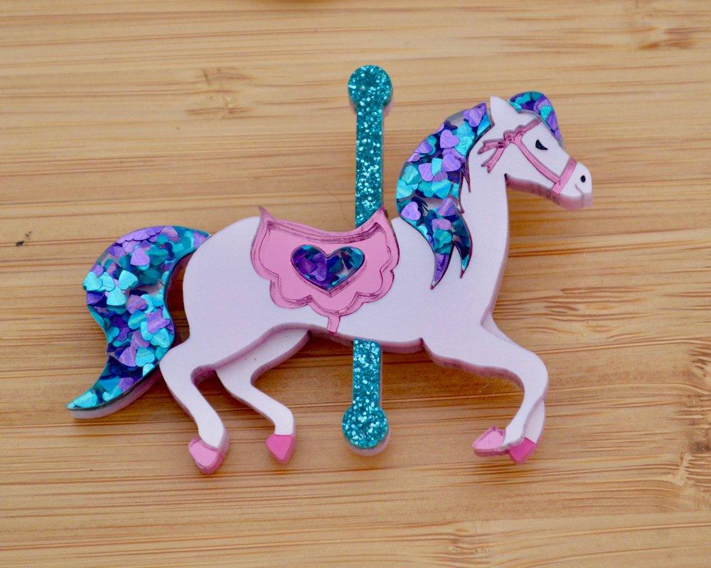 Cassie the Carousel Horse