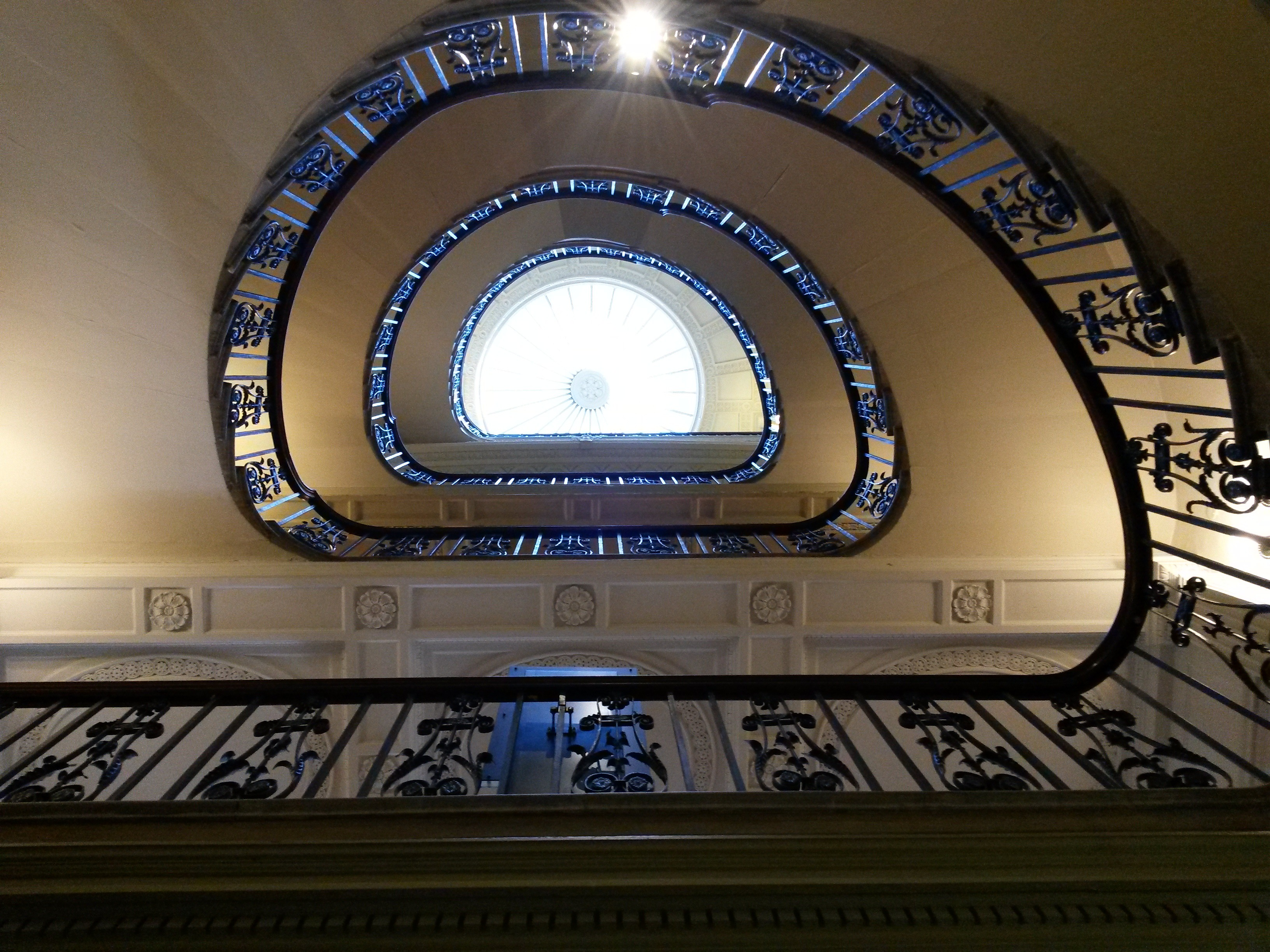 Courtauld staircase from below