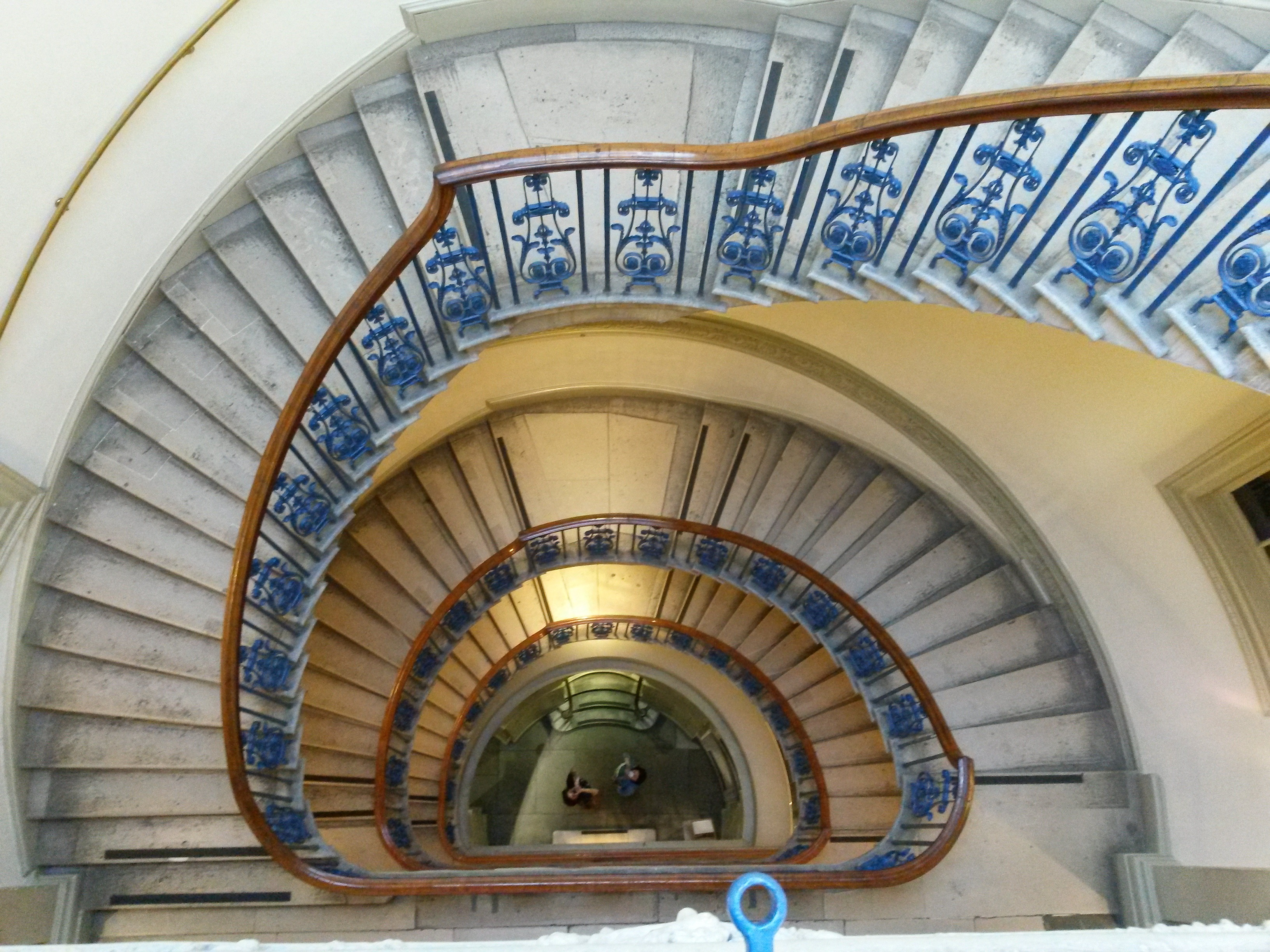 Courtauld staircase from above