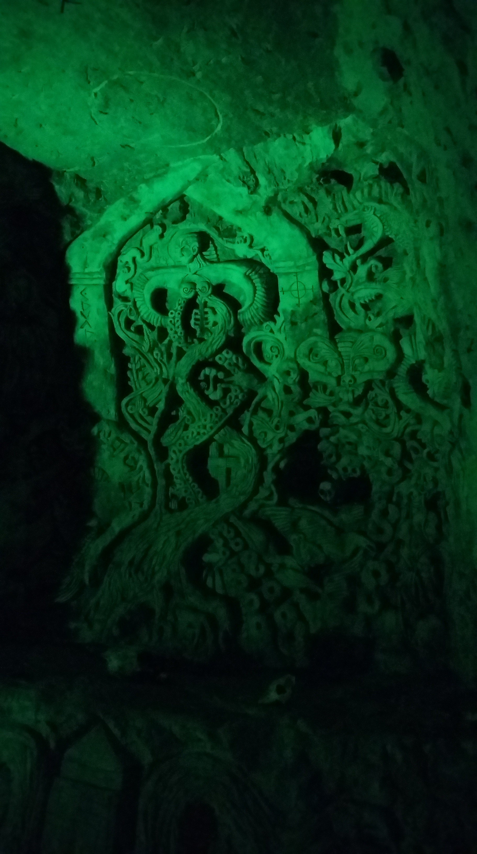 Modern sculpture in the caves