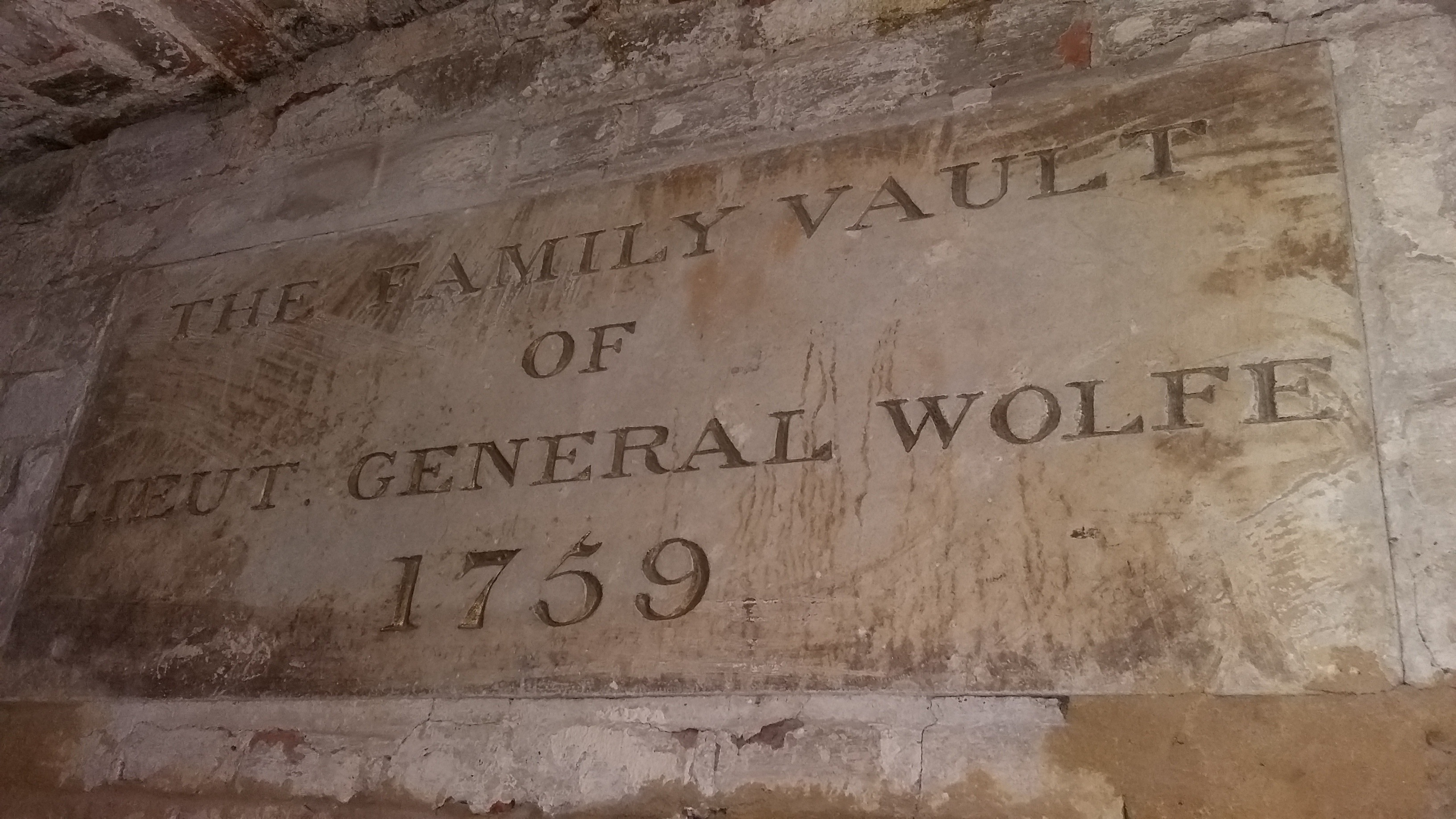 Vault of General Wolfe