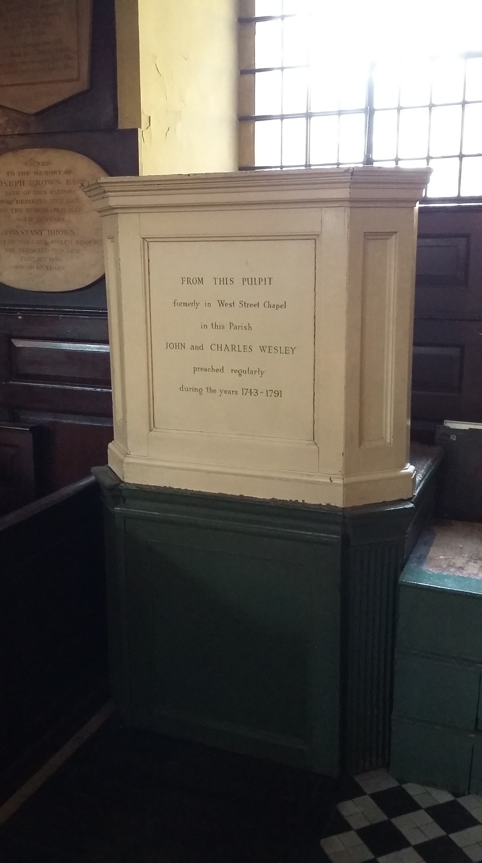 Wesley's pulpit