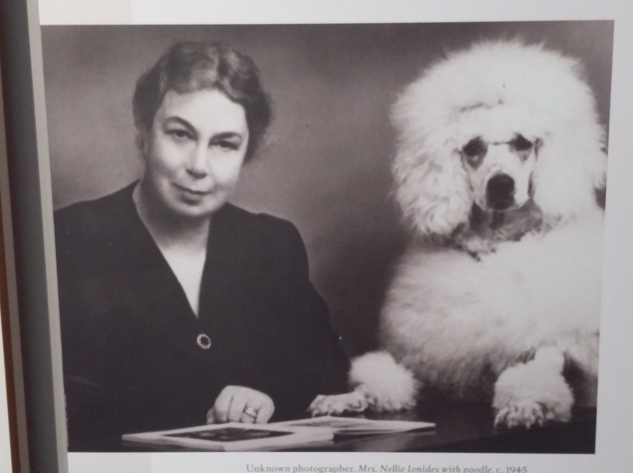 Nellie Ionides and her poodle, Cliquot