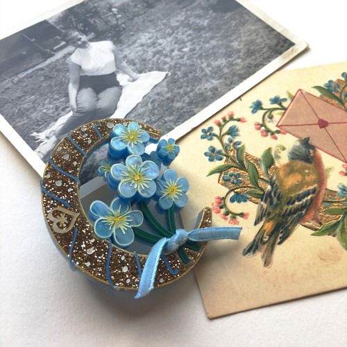 Sweet Patricia Forget me Not Brooch