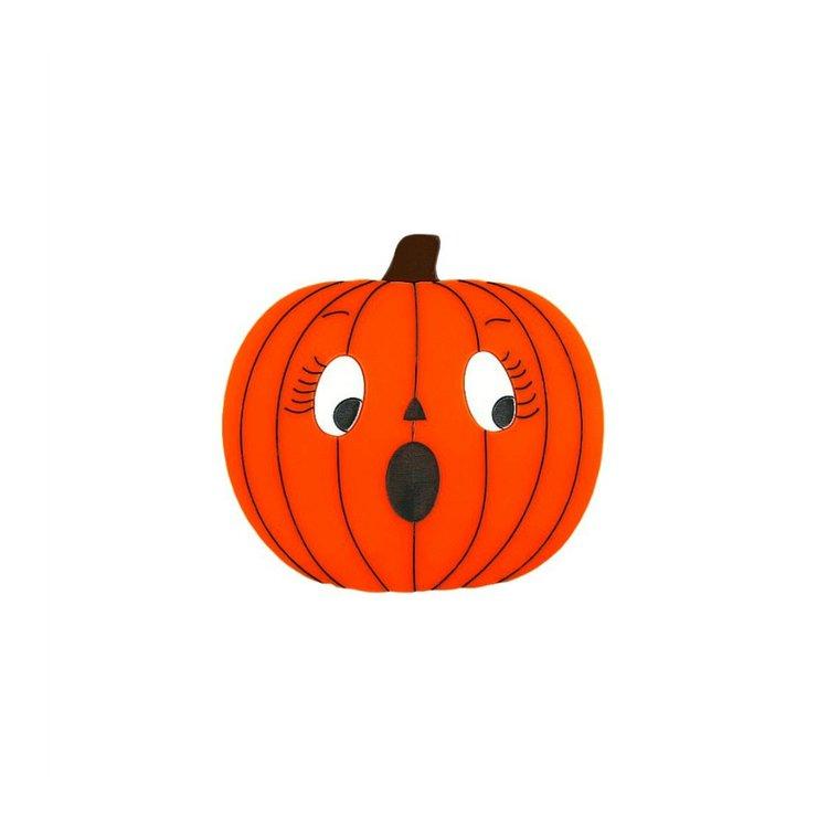 Scared Pumpkin Brooch