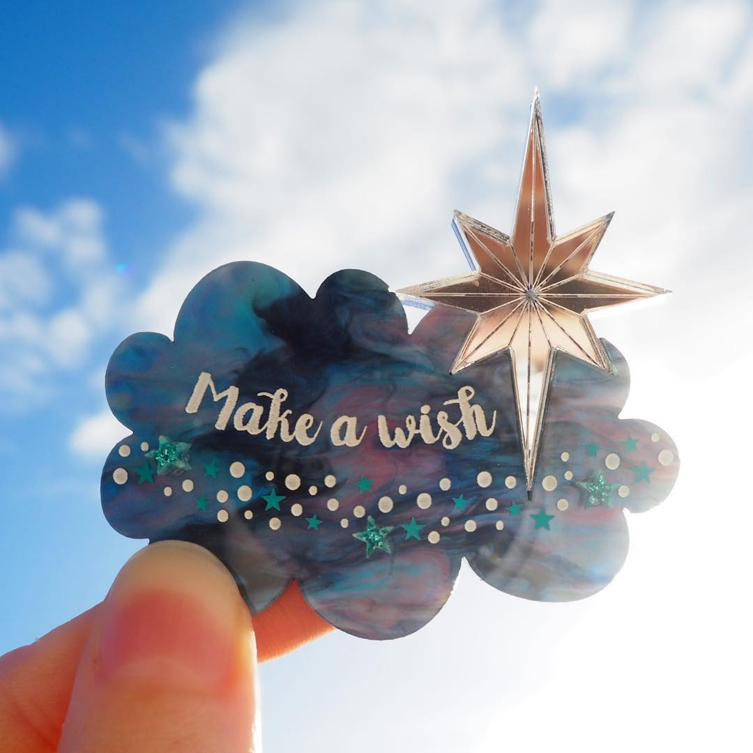 Make A Wish Brooch