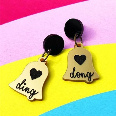 ding dong bell earrings