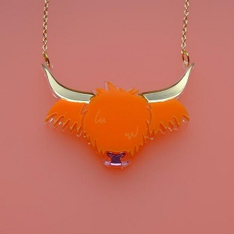 wee bling cow necklace