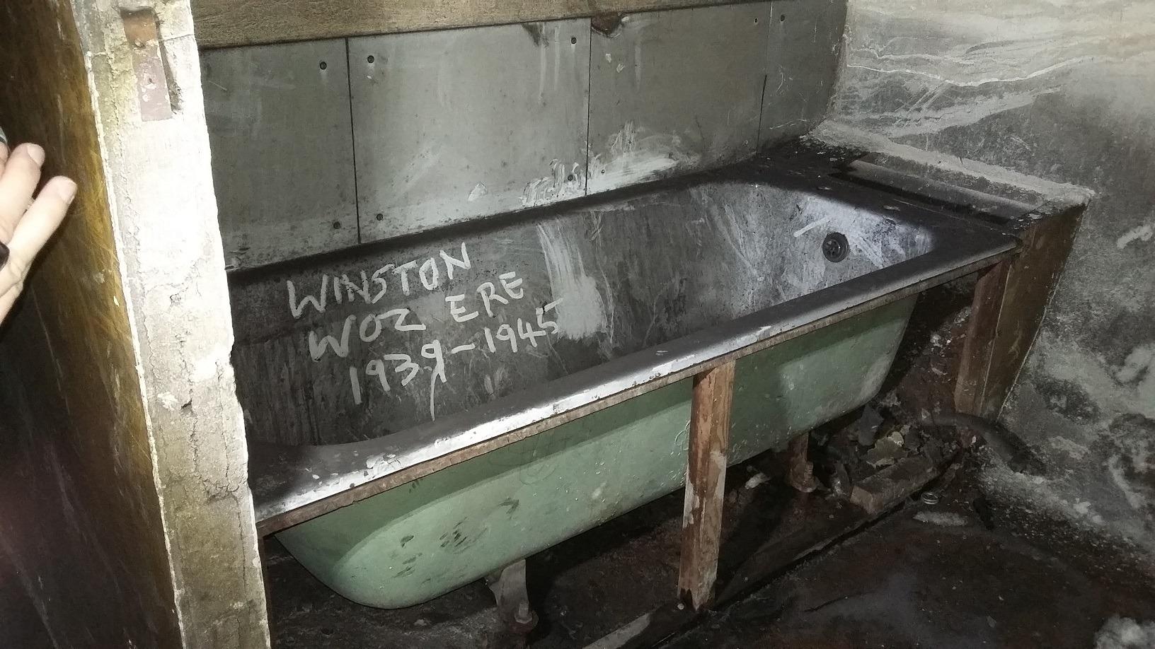Winston's bath?
