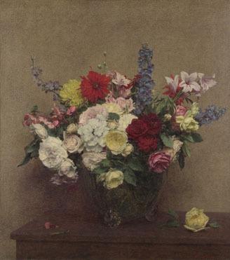 Ignace-Henri-Théodore Fantin-Latour, 'The Rosy Wealth of June'