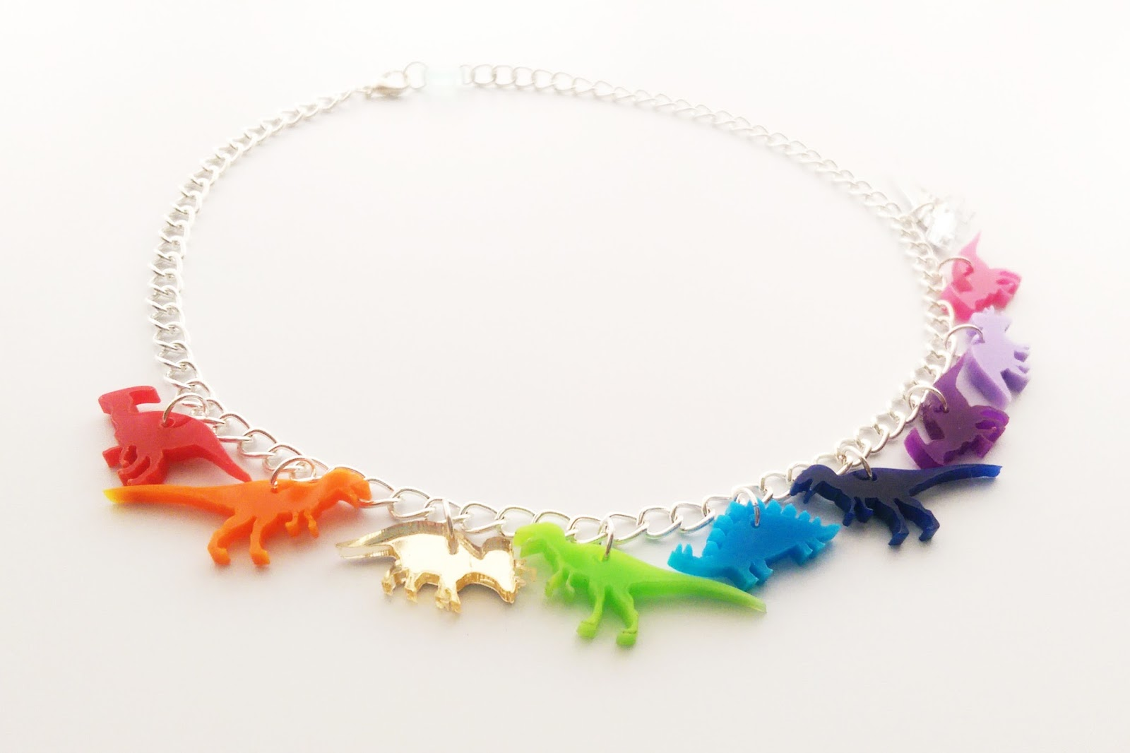 Dinosaur charm necklace
