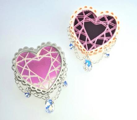 crystal heart brooch