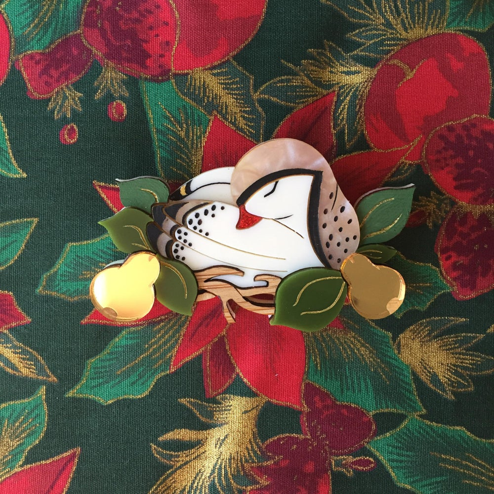 First day of Christmas brooch