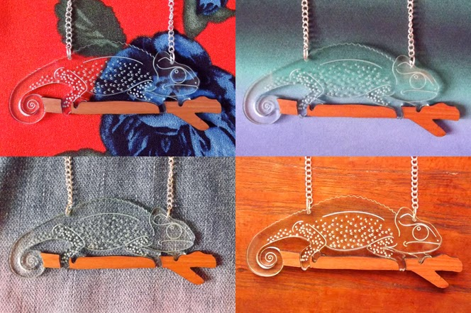 George the chameleon necklace