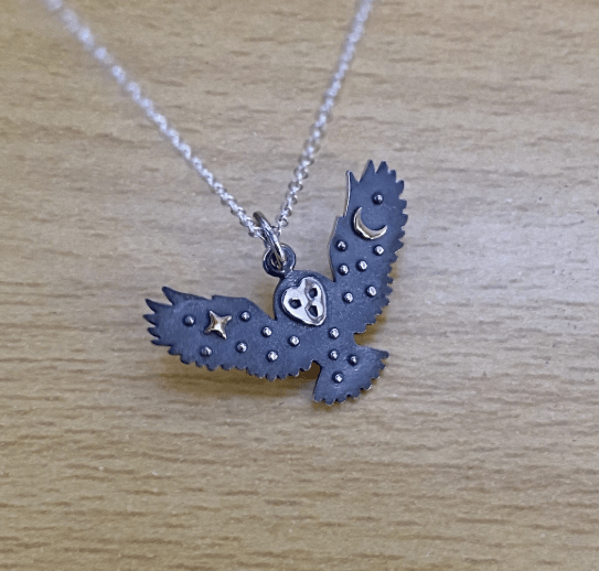It's Only Forever owl necklace