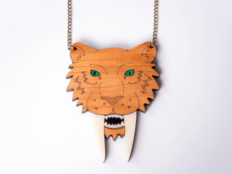 Sabre tooth tiger necklace