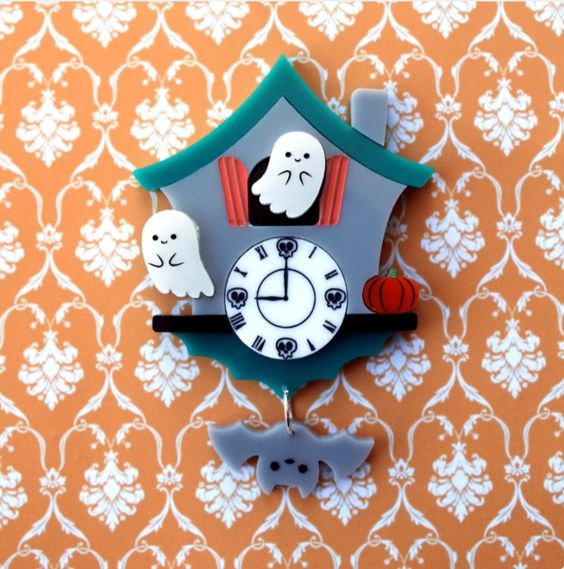 Spooky Time brooch