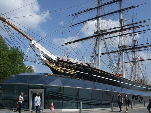 The Cutty Sark seen from the front