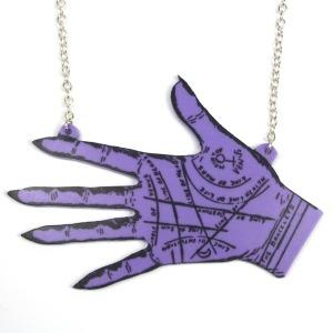 Large Purple Palmistry Necklace