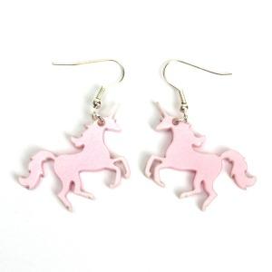 Pink Shimmer Unicorn Earrings