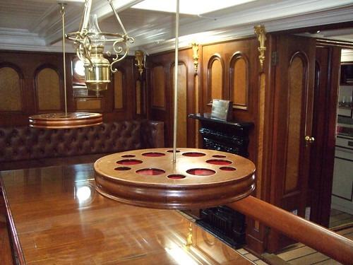 Inside the Captain's quarters