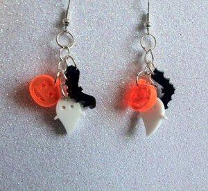 Tiny Halloween Laser Cut Acrylic Charm Earrings