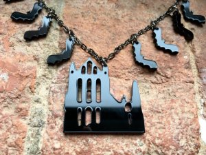 Laser Cut Whitby Abbey Necklace