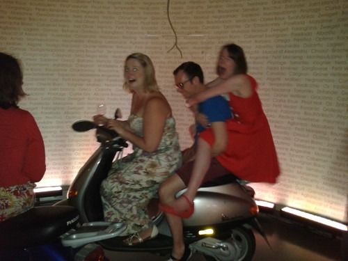 Friends on mopeds